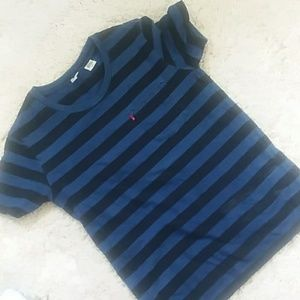 Blue and black striped Levis T shirt